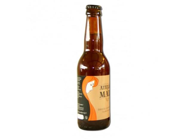 """Bière ambrée """"Couleur d'Automne"""" ATELIER DU MALT 33CL"""