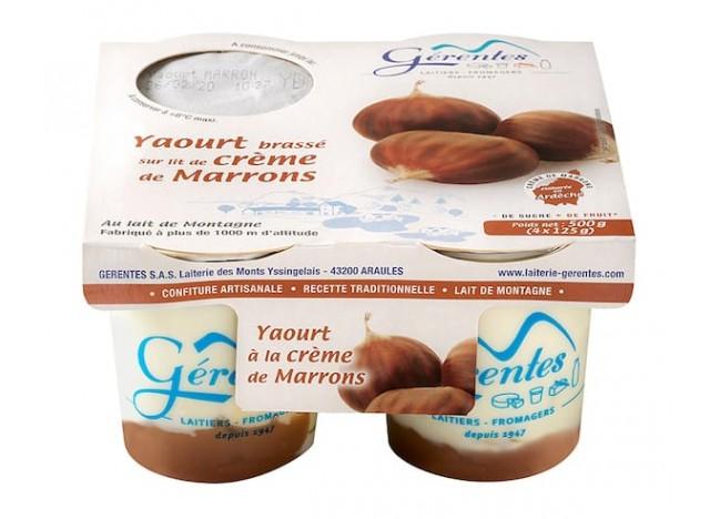 Yaourt à la crème de Marron (4x125g)